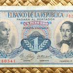 Colombia 1 peso oro 1968 anverso