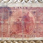 México, 5 pesos 1905 Banco Nacional de México reverso