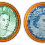 Isabel II en el billetario de Africa Oriental colonial