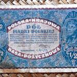 Polonia 0.5 marki 1920 (108x68mm) pk.30 anverso