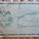 Colombia 1 peso 1900 reverso