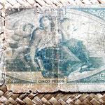 Argentina 5 pesos 1888 reverso