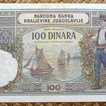 Yugoslavia 100 dinares 1929 pk.27 reverso