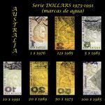 Australia 1ª serie decimal -$ '70-'90 s.XX marcas de agua