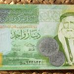 Jordania 1 dinar 2002 anverso