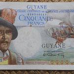 Guyana 50 francos 1947 (150x80mm) pk.22a anverso