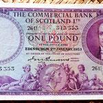 Escocia 1 libra 1953 Edimburgo anverso