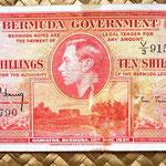 Islas Bermudas 10 shillings 1937 anverso