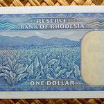 Rodesia 1 dólar 1978 reverso