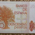 España 200 pesetas 1980 pk.156 reverso