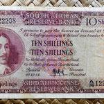 Sudáfrica 10 shillings 1954 (136x78mm) anverso