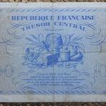 Francia 100 francos 1943 -Corcega (156x99mm) pk.105 reverso