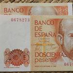 200 pesetas 1980 pareja correlativa sin serie anversos