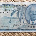 Malawi 50 tambala 1975 anverso