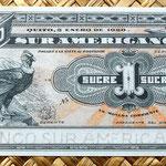 Ecuador 1 sucre 1920 Banco Sur Americano (148x64mm) pk.S251r anverso