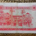 Isla Mauricio 10 rupias 1967 pk.31c reverso