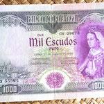 Portugal 1000 escudos 1966 anverso
