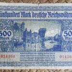 Danzig 500 mark 1922 pk.14 reverso