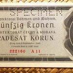 Bohemia y Moravia 50 coronas 1940 Specimen anverso