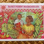 Madagascar 25000 francos - 5000 ariary 1998 pk.82 reverso