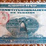México 1 peso oro 1916 Tesoreria Estado de Yucatán -Mérida 1 peso oro 1916 reverso