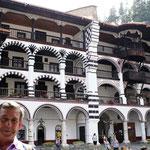soportales y celdas de los monjes en el Monasterio