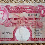 British East Africa 100 shilling 1958-60 anverso (160x94mm) pk.40