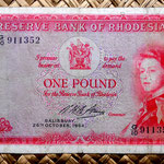 Rodesia 1 pound 1964 (148x81mm) anverso