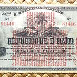 Haiti 1 gourde 1914 resello 1916 anverso