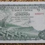 Guinea Ecuatorial 500 pesetas 1969 (146x94mm) pk.2 anverso