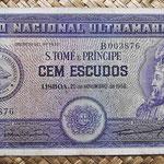 Santo Tomé y Príncipe 100 escudos 1958 (158x82mm) pk.38 anverso