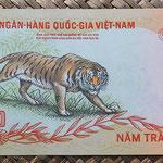 Vietnam del Sur 500 dong 1972 pk.33a reverso
