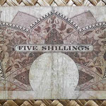 British East Africa 5 shilling 1958-60 reverso (132x70mm)