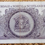 Escocia Clydesdale and North of Scotland Bank 5 libras 1960 reverso