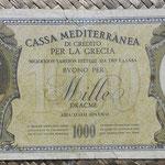 Grecia ocup. italiana WWII 1000 dracmas 1941 (195x95mm) pk.M6 anverso