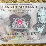 Escocia 20 pounds sterling -Bank Of Scotland 1993 (150x80mm) anverso