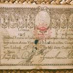 Portugal 20.000 reis 1799 resello Pedro IV 1826 anverso