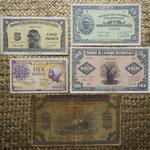 Africa Occidental Francesa francos emisiones foráneas WWII anversos