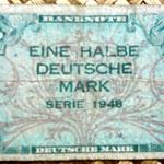 Alemania Ocup. Aliada postWWII  0,50 marco 1948 billete militar