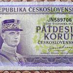 Checoslovaquia 50 korun 1945 anverso