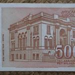 Yugoslavia 5000 dinares 1993 pk.128 reverso