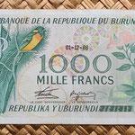 Burundi 1000 amafranga 1986 anverso