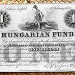 Filadelfia 1 dólar 1852 Lajos Kossuth