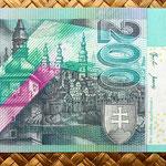 Eslovaquia 200 korun 2002 reverso