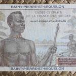 San Pedro y Miguelón 20 francos 1950-1960 pk.24 reverso