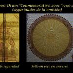 Seguridades de impresion 50.000 dram Armenia 2001