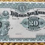 Ecuador 20 sucres 1920 anverso
