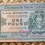 Escocia Clydesdale Bank 1 libra 1966 anverso