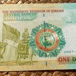 Jordania 1 dinar 2002 reverso