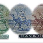 Camel postman en reversos billetario sudanés 1956-1966